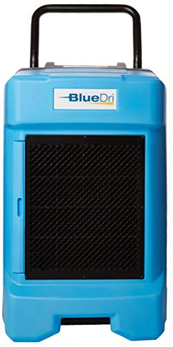 BlueDri BD-130P 225PPD Industrial Commercial Dehumidifier with Hose for Basements in Homes and Job Sites, Blue ()