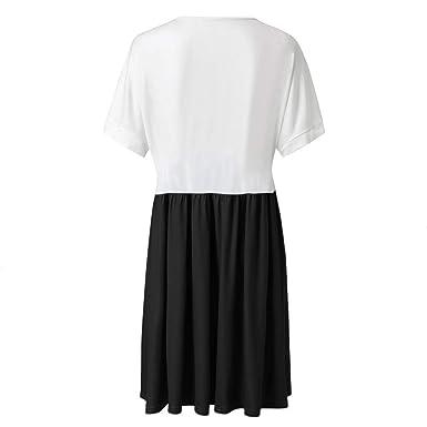AIFGR Falda de señora Damas Casual Patchwork Color Degradado con ...