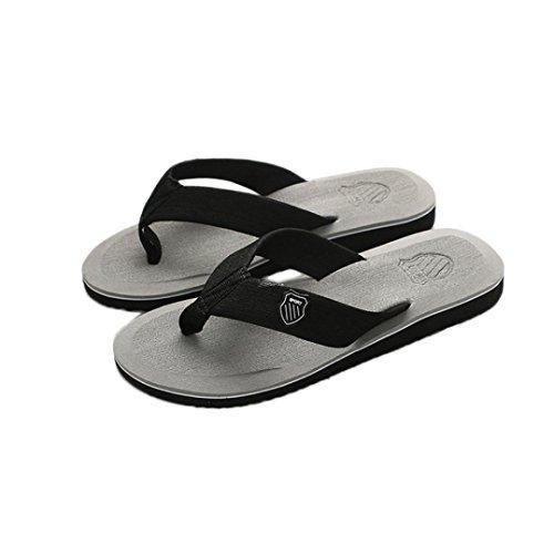 Baomabao Herren Sommer Flip-Flops Hausschuhe Strand Sandalen Indoor & Outdoor Freizeitschuhe Grau