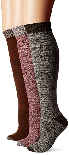 Muk Luks Womens 3 Pair Pack Mircrofiber Knee High Socks