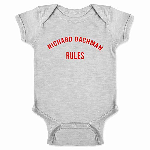 Pop Threads Richard Bachman Rules Horror Funny Gray 12M Infant -
