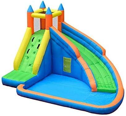 Azul Castillo Inflable, Diapositiva de Agua Inflable Piscina Castillo de Salto Gorila con soplador de Aire for los niños zhihao