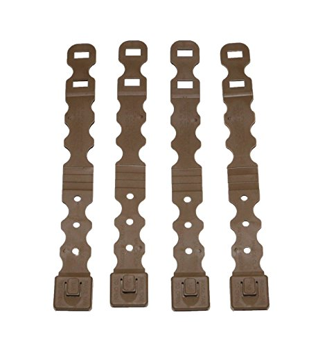 Tactical Tailor Fight Light Series Malice Clip - 4 Pack (Short Coyote)