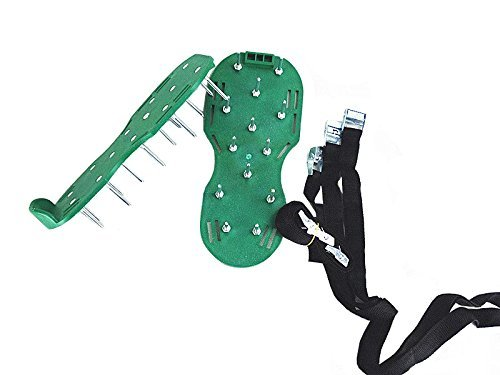 Spiked Garden Shoes Spike Shoes For Aerating Lawn Care Shoe Spikes For Grass Lawn Shoes With Spikes Sandals With Spikes Spike Shoes For Lawn Garden Spike Shoes Lawn Aerator Spike Shoes (Green)