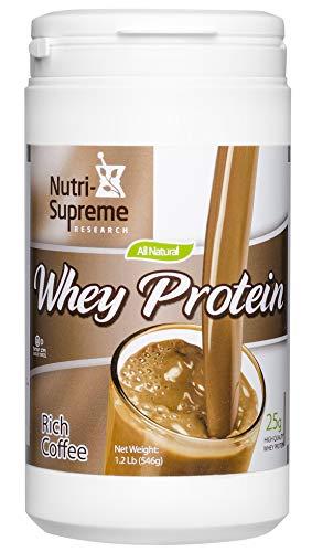 Nutri-Supreme Research Whey Protein Powder Rich Coffee Dairy Cholov Yisroel - 1 ()