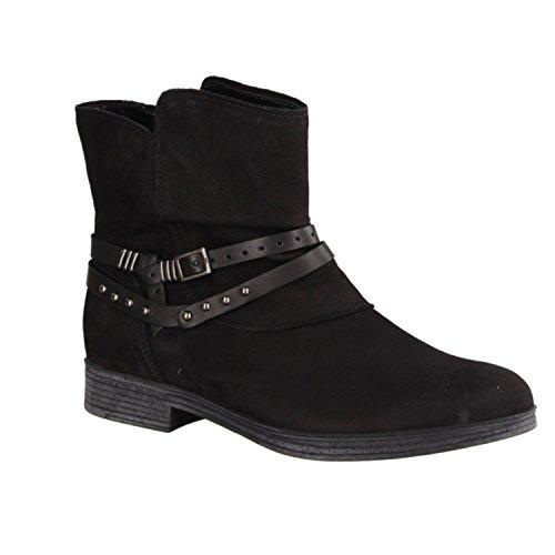 GABOR Zapatos 93.730.37 Botines Mujer - cómodo zapatos en talla grande Negro