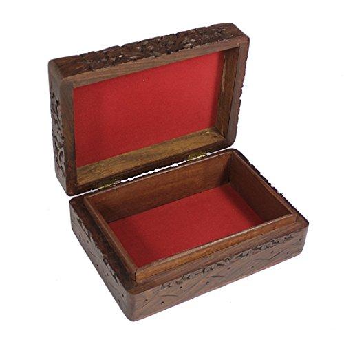 Decorative Jewelry Boxes Ideas : Handmade decorative jewelry box wooden storage keepsake