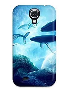 Galaxy S4 Case Cover - Slim Fit Tpu Protector Shock Absorbent Case (whales Dream)