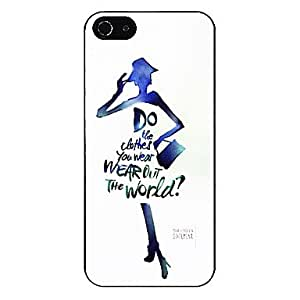 ZXSPACE Color Wash Painting of Fashion Girl Pattern Aluminous Hard Case for iPhone 5/5S