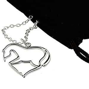 Silver Heart Horse Pendant Necklace [My Little Pony] Jewelry Gift for Girl Teen Women Equestrian
