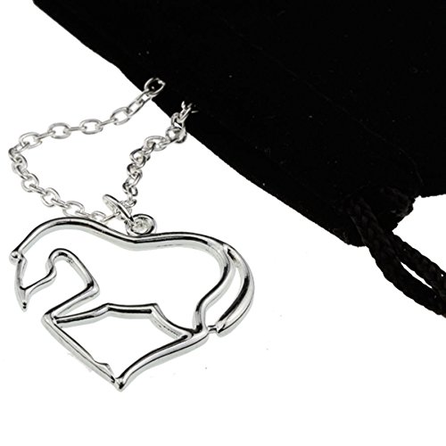 Equestrian Day Bag (Amazing Silver Heart Horse Pendant Necklace [My Little Pony] Gift for Girls, Teens and Women)