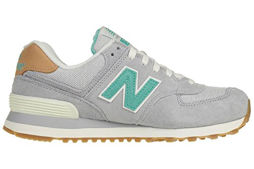 New Balance Damen Wl574v1 Sneakers Grau/Grün