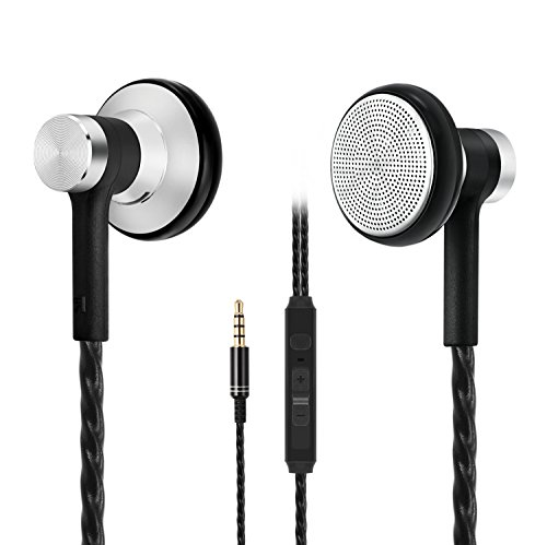 in-Ear Earbuds Earphones, Acode Wired Metal Headphones Noise Isolating Stereo Bass Headset with Built-in Mic and Volume Control for 3.5mm Interface Devices (Black)