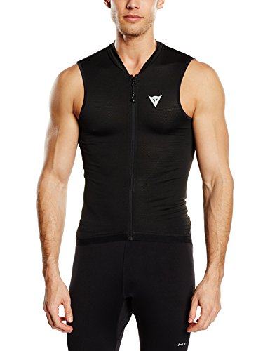 Dainese (daine-ze) Gilet Manis 13Skiing, Snowboarding For Upper Body Protector O61–Black/Black  by Dainese (Image #1)