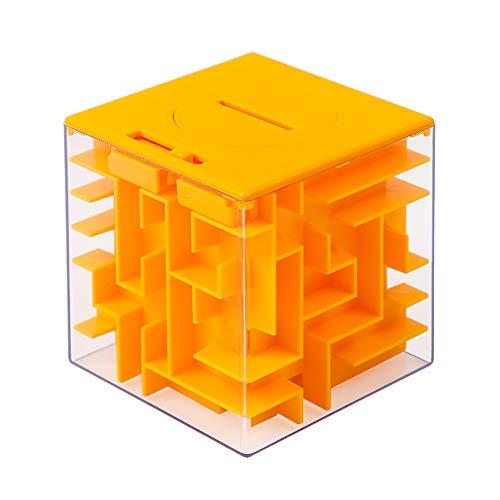 Money Maze Puzzle Box, Twister.CK Money Holder Puzzle Kids Adults Birthday (Orange)