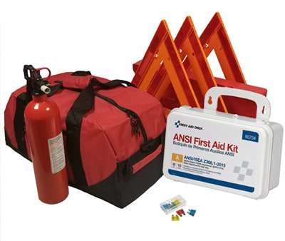 Safety and Trauma Supplies Essential All-in-One DOT OSHA ANSI Compliant Kit with Kidde 5BC Fire Extinguisher Model FA5G by Safety and Trauma Supplies