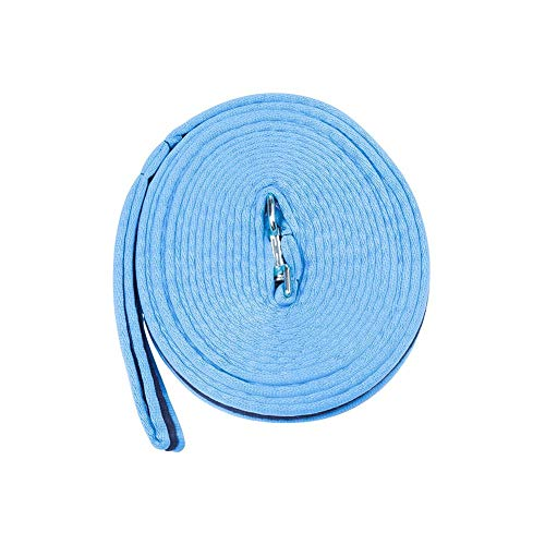 Kincade Two Tone Padded Lunging Reins Blue/Navy 26 Ft
