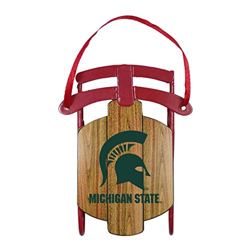Michigan State Spartans Ornaments (Boelter Brands NCAA Michigan State Spartans Metal Sled Ornament)