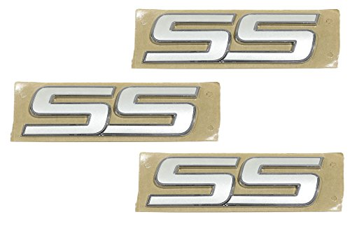 (OEM NEW Trunk and Fender Emblem Set of 3 Pearl White 06-10 Chevrolet)