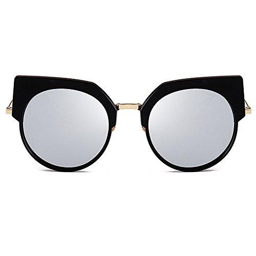 Gu Semi sin de del Color Protección los Conducir Ultravioleta Las exquisitas Gato la Playa rebordes Ojos de para Sol de Mujeres Rosado de Plata Peggy para Verano Las Vacaciones Gafas dqxwPYdX