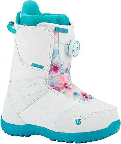 Burton Zipline BOA Snowboard Boots Girls Sz 7 Burton Kids Snowboard Boots