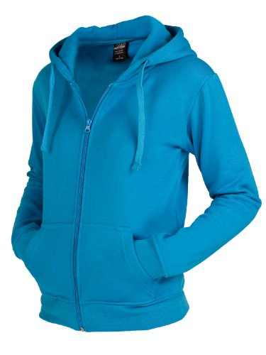 "Urban : ""Ladies Zip Hoody"" Size: XL, Color: turquoise …TB079"