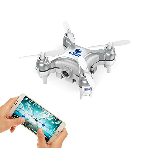 GoolRC Smallest FPV Drone with Camera Live Video iOS/Android APP Phone WiFi Remote Control Mini Quadcopter Spy Drone Pocket Drone for Apple iPhone iPad Sumsung HTC