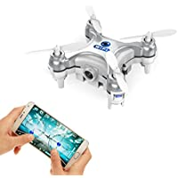 GoolRC Smallest FPV Drone with Camera Live Video iOS/Android APP Phone Wifi Remote Control Mini Quadcopter Spy Drone Pocket Drone for Apple iPhone iPad Samsung HTC