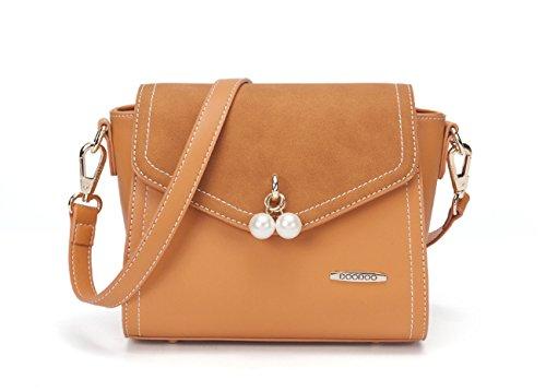 Handbag Brown Bags Pendant Pearl with Elegant Women Crossbody Micom Shoulder for pgwAqv0qW