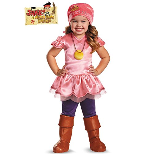 Izzy Costumes And Jake (Girl's Disney Junior Jake and The Neverland Pirates Izzy Deluxe Costume,)