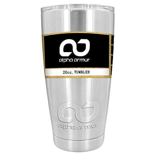 Alpha Armur 20 Oz Vacuum Insulated Tumbler Stainless Steel H