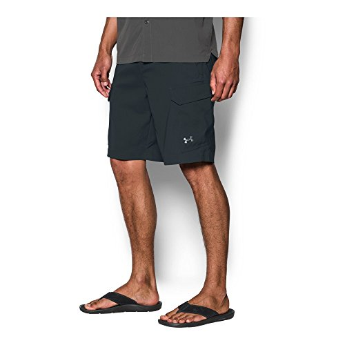 Under Armour Men's Fish Hunter Cargo Shorts, Anthracite/Steel, 32