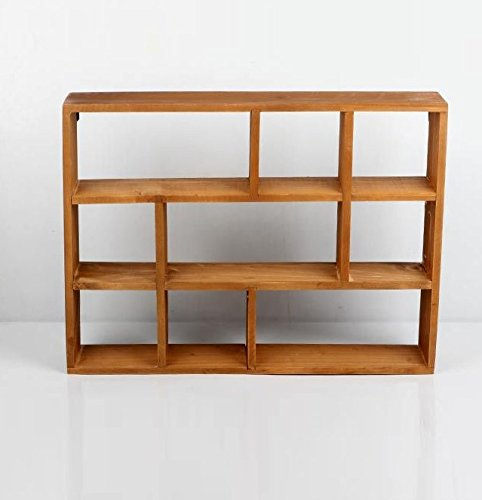 """Chris.W Wall Mounted / Freestanding Cubeicals Off-set Mini 9 Compartment Wooden Organizer Holder Rack Shelf Collection- 15-1/2"""" x 3"""" x 11-1/2"""" - Units can be freestanding or wall-hanging. Eliminate clutter and maximize space with this 9-compartment off-set wood organizer for quick organization. Overall Dimensions(LxWxH): 15-1/2"""" x 3"""" x 11-1/2"""". - wall-shelves, living-room-furniture, living-room - 41UWHMkiwOL -"""