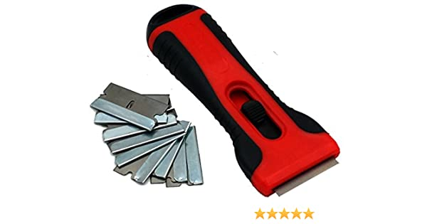 M & H de 24 Premium vitriocerámica con 10 cuchillas Cuchillas de repuesto - Rascadores/Rascador/limpiador Cristal vitrocerámica hobs - Rasqueta ...