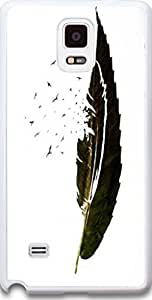 Galaxy Note 4 Case Dseason, Samsung Galaxy Note 4 Case Fashion Printing Series,High Quality Personalized Protector Quotes A feather