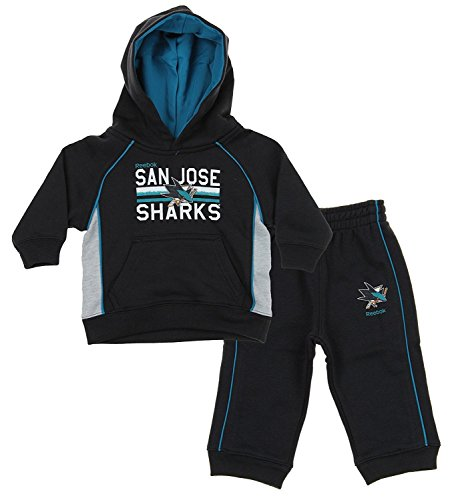 - Outerstuff NHL Little Boys Todders/Infants Classic Fan 2 Piece Hoodie & Pant Set, San Jose Sharks
