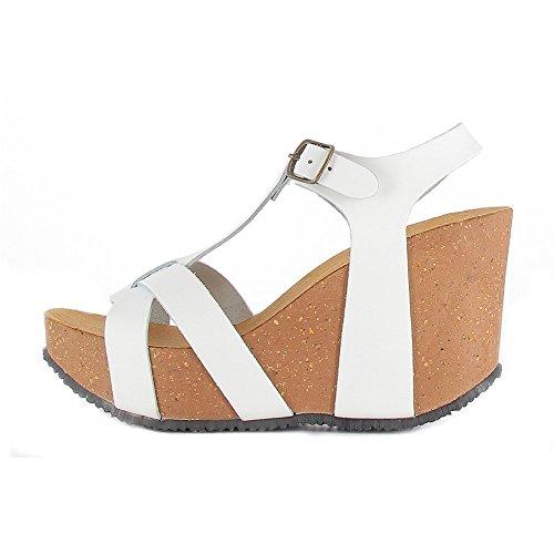 Bionatura - Sandalias de vestir de Piel para mujer blanco Bianco