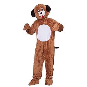 Forum Novelties Men's Mister Puppy Plush Mascot Costume, Brown, Standard