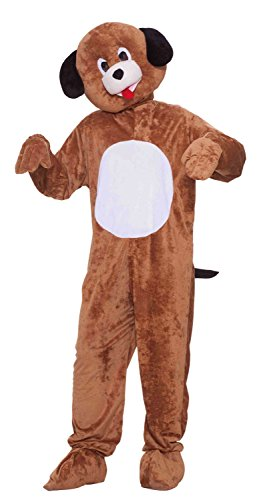 Forum Novelties Men's Mister Puppy Plush Mascot Costume, Brown, Standard -