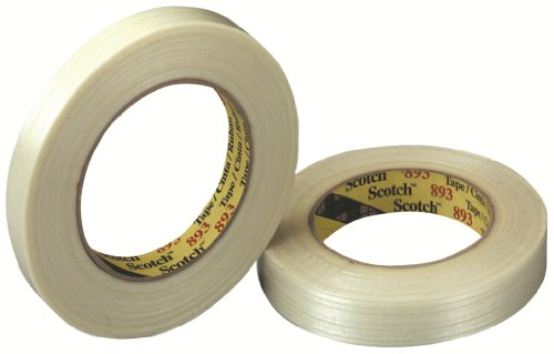 - Scotch Filament Tape 893 Clear, 12 mm x 55 m, Conveniently Packaged (Pack of 6)