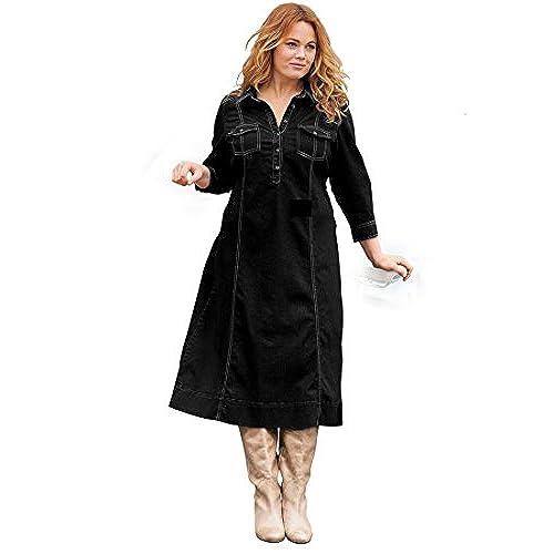 Denim Dresses Plus Size: Amazon.com