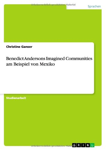 imagined communities thesis As someone who has studied american history almost exclusively, i found imagined communities: reflections on the origin and spread of nationalism by benedict anderson to be a refreshing and highly readable look at the cultural origins of, and theoretical explanations for, the rise of nationalismthough often referencing histories and cultures with which i am unfamiliar, anderson does a nice.