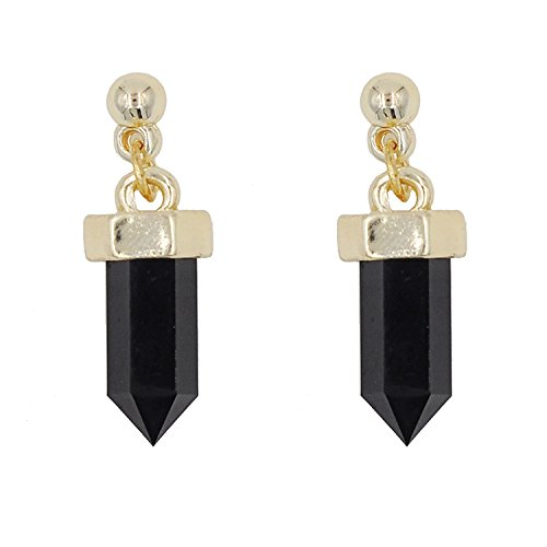 November's Chopin (TM) Elegand Mystery Crystal Fashion Dangle Earrings (Black)