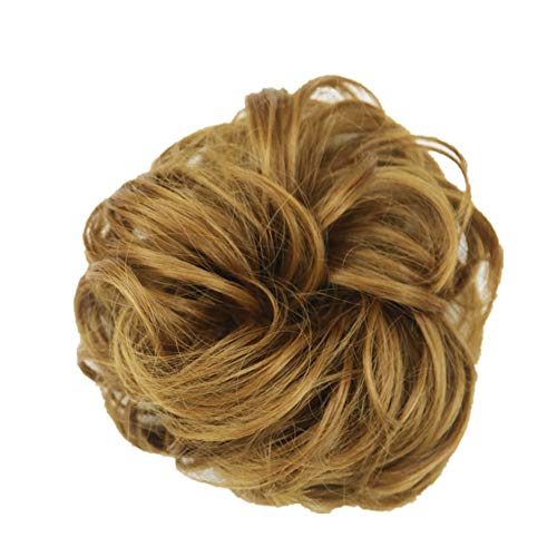 -  Orcbee  _Women's Curly Messy Bun Hair Twirl Piece Scrunchie Wigs Extensions Hairdressing (A)
