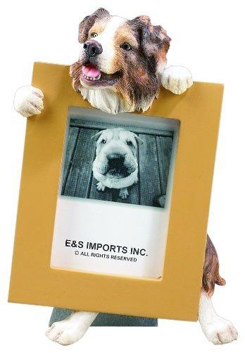 Australian Shepherd Dog 2.5 x 3.5'' Handpainted Picture Frame by E&S Pets