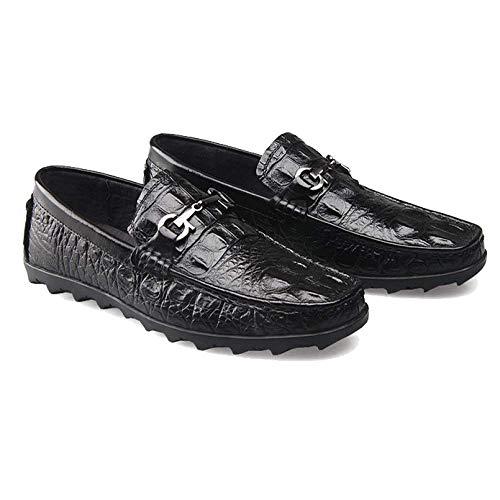 Broch Cómodo Caucho Cuero Tallado Perezosos Hombres Black Negocios Xycszq Zapatos Transpirable De xqwYUTv0