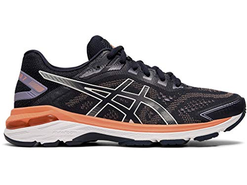 ASICS Women's GT-2000 7 (2E) Running Shoes, 8XW, Midnight/Midnight