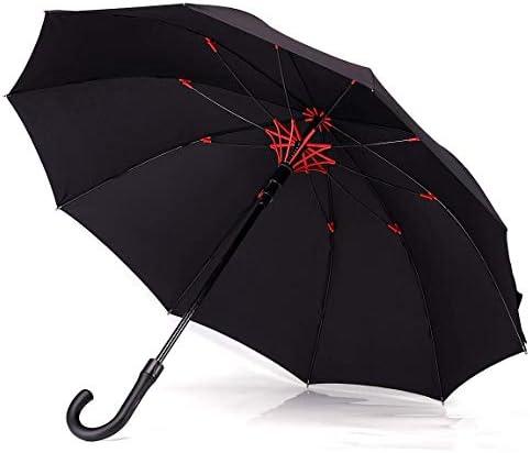 【昇級版】 梅雨対策Vialifer長傘210T高強度グラスファイバー伞10本骨Teflon加工超撥水耐風 丈夫 大型 紳士傘 自動開けステッキ傘 レディースメンズ晴雨兼用傘 大きな傘 付き