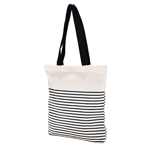 Cotton Canvas Tote Bag with Inner Pocket Adorable Large Tote Bag for Beach,Shipping,Groceries,Books