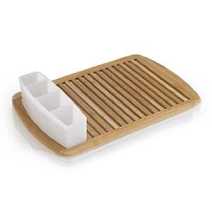 Umbra Slat Bamboo Dish Drying Rack With Tray Amazon Com
